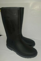 Kamik Black Rubber Waterproof Pull On Rain Boots Sz 9 - $34.64