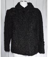 Joseph W. Horak Boston Designer Black Lambswool Vintage Coat Small - $29.70