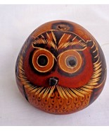 """Owl Hand carved on a Gourd 3"""" Tall from Indigenous Brazil - $11.39"""
