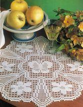 4X Butterfly Table Skirt Mat Pillows Dogwood Pillow Filet Crochet Patterns image 2
