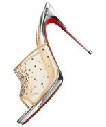 Christian Louboutin Violas Mule 100 Crystal Mesh Sandals NEW $1.2K - $845.00