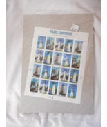 Pacific Lighthouses 4th in a Series Pane of 20 - Mint NH VF Original pk - $9.57