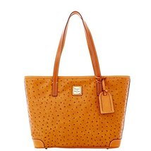 Dooney & Bourke Ostrich Charleston Shoulder Bag Tote Tan