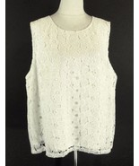 CALVIN KLEIN Size 2X NEW Cream Lace Sleeveless ... - $47.99