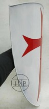 THARU Crusader Heater Steel Shield Knights Templar Red Cross Medieval Designed  - $140.00