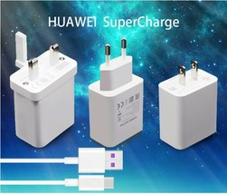 Original HUAWEI 5V 4.5A Super Charger+5A USB Type C fast charging Cable For - $18.36+