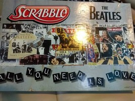 Scrabble THE BEATLES EDITION 2012 Ages 8+ 2-4 Players 100% Complete  - $29.70