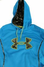 NEW UNDER ARMOUR WOMEN'S  STORM CALIBER BIG LOGO HOODIE PIRATE BLUE image 4