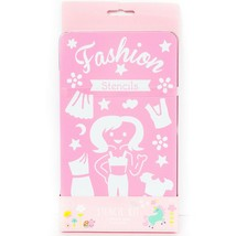Fashion Stencil Kit New Mix Match 7 Stencils Metal Case - $4.81