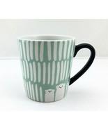 Starbucks Polar Bear Light Green White Black Handle Espresso Mug-2016 Co... - $18.95