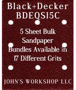 Black+Decker BDEQS15C - 1/4 Sheet - 17 Grits - No-Slip - 5 Sandpaper Bul... - $7.14