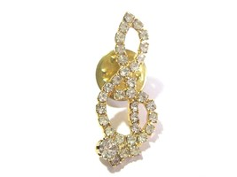 SPARKLY RHINESTONE NOTE SHARP MUSICAL LAPEL PIN  - $25.00