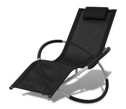 Outdoor Sun Lounger Garden Folding Chair Reclining Bench Seat Beach Camp... - $127.95
