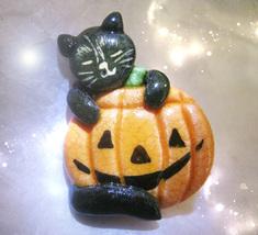 FREE W $25 Haunted HALLOWEEN CAT PUMPKIN PIN 27X HALLOWED FORCES MAGICK ... - $0.00