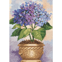 """Dimensions/Gold Petite Counted Cross Stitch Kit 5""""X7""""-Hydrangea In Bloom - $15.80"""