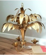 Pottery Barn Kids Gold PALM FROND Chandelier Lilly Pulitzer for Pottery ... - $295.00
