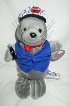 "Coca Cola Soccer Shirt Gray Seal Sitting 6"" Tall Bean/Plush Holding Coke... - $8.95"