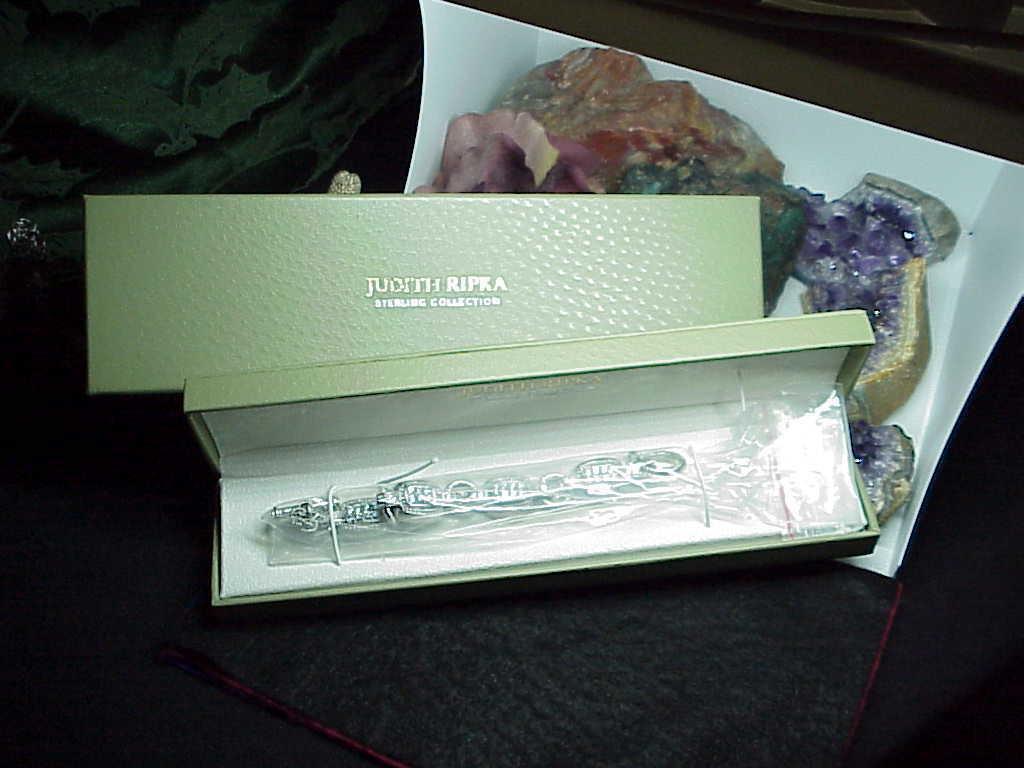"Judith Ripka Sterling Diamonique Station Link Toggle Bracelet New Box 8"" 47.1Grm"