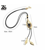 Necklace Female Sweater Accessories Round Circle Long Tassel Simple Style - $6.69