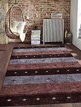 Rugsotic Carpets Hand Knotted Gabbeh Silk 6'x9' Area Rug Contemporary Br... - $251.00