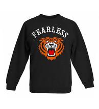 Boys 'Fearless' tiger design sweatshirt in blac... - $19.99