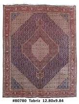 Hand Knotted Rug 10' x 13' Persian Tabriz 100% Wool - $1,757.28