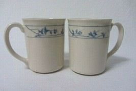 SET OF 6 REPLACEMENT CORELLE COFFEE CUPS FIRST SPRING BLUE & WHITE FLOWERS - $9.99