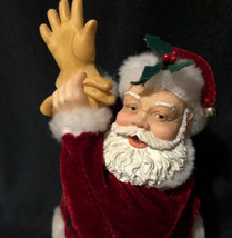 "Hallmark Cards STARTING OUT Santa Claus Putting On His Gloves 9"" Figure ... - $4.94"