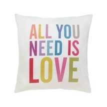 Decorative Throw Pillow, Bed Colorful Alphabet Polyester Square Throw Pi... - $29.99