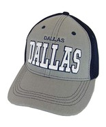 Dallas Solid Front Air Mesh Back Adjustable Baseball Cap (Gray/Navy) - $12.95