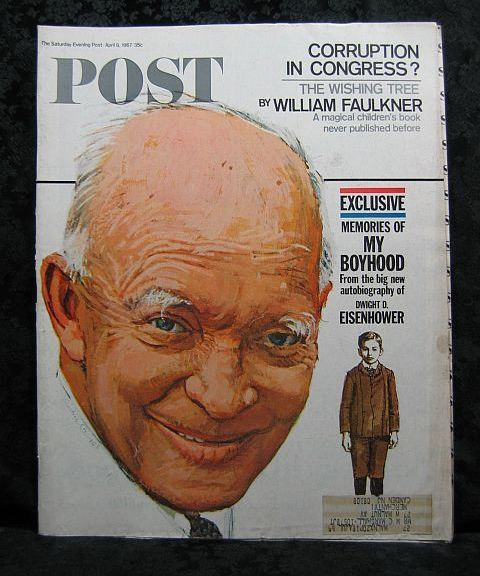 Saturday Evening Post April 8, 1967 Eisenhower Cover