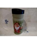 GRUMPY DWARF Travel Coffee Tea Cup Mug DISNEY Souvenir I HATE MORNINGS - $14.99