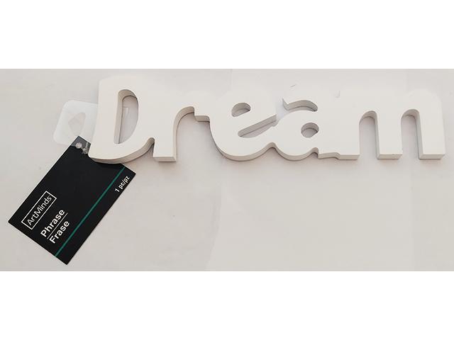 "White Wooden ""Dream"" Sign #216014"