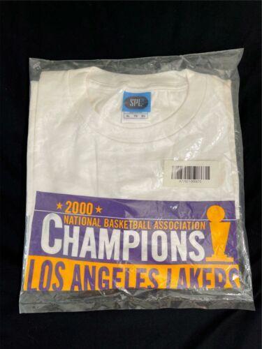 Vintage New Sealed 2000 NBA Champions Los Angeles Lakers Shirt Sz XL Kobe Shaq