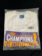 Vintage New Sealed 2000 NBA Champions Los Angeles Lakers Shirt Sz XL Kobe Shaq image 1