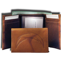 SAN DIEGO CHARGERS NFL FOOTBALL SPORTS EMBOSSED LOGO BILLFOLD OR TRIFOLD... - €21,29 EUR
