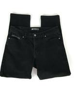 Levis Womens Jeans Size 14M Mid Rise Skinny Black Stretch Denim - $24.26