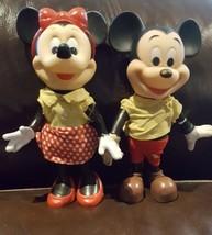 Vintage 1960 Walt Disney's Minnie  & Mickey mouse. Poseable vinyl /plast... - $3.00