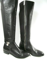 Michael Kors PE15E Womens Side Zip Black Leather Riding Boots Size US 6 ... - £118.43 GBP