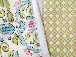 Burp Pads Cloths Handsewn Designer Coordinates Fabric Set of 2 - $12.00