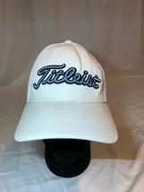 Titleist Pro V1 Footjoy FJ Golf Hat Cap Size L/XL Blue Lettering Logo White - $14.24