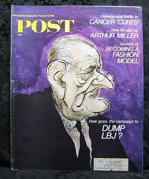 Primary image for The Saturday Evening Post February 10, 1968 LBJ Cover