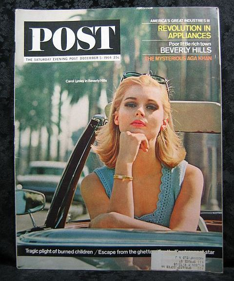 The Saturday Evening Post December 5, 1964 Carol Lynley Cover