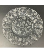 """1 Fostoria Luncheon Plate 8.5"""" Crystal Glass Etched Chintz Baroque 20-685 - $18.99"""