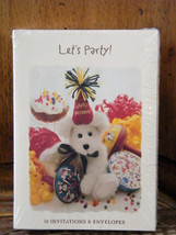 Boyds Bear Collection *Let's Party Invitations* Pkg 10* New* Style #787001* - $4.95