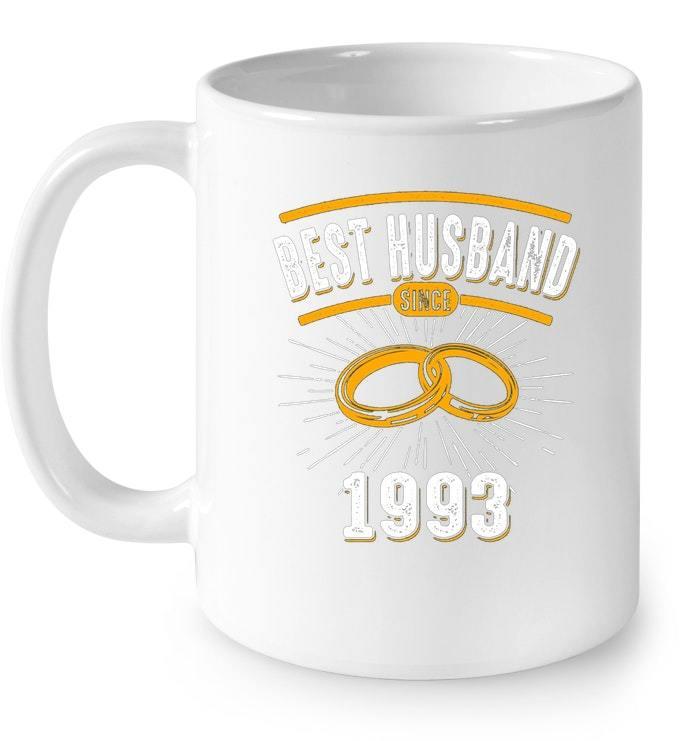 Mens Best Husband Since 1993 25th 25 Years Wedding Anniversary Gift Coffee Mug