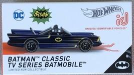Hot Wheels 2021 ID Car BATMAN CLASSIC TV SERIES BATMOBILE (HBF93) Blue C... - $18.95