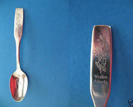 ALBERTA Souvenir Collector Spoon I.S. Collectible WILD ROSE Flower - $4.95