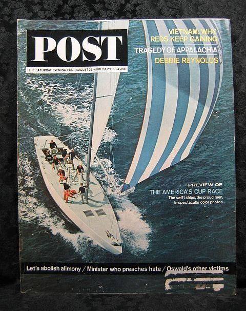 Saturday Evening Post August 22, 1964 America's Cup Race