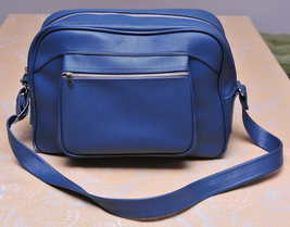 American Tourister Overnight Bag Blue Excellent Shape Way Cool 9-10 MiNTY ! - $32.00